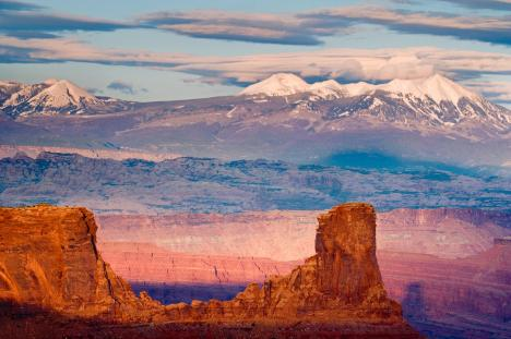 La Sal Mountains from Dead Horse Point State Park