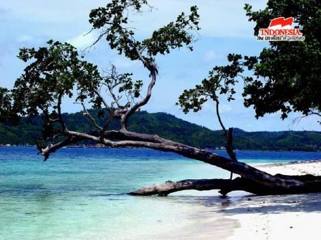 Salah satu pantai di Lampung