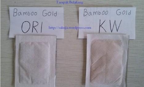 koyo kaki bamboo gold - tampak belakang