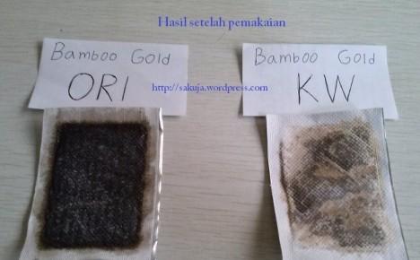 koyo kaki bamboo gold - sebelum dan setelah pemakaian
