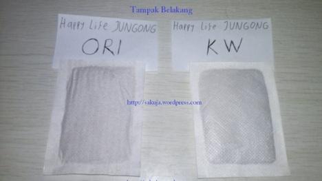 Koyo Kaki Happy Life JUNGONG ORI vs KW, tampak belakang